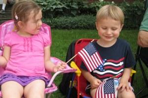 Patriotic Children on Memorial Day